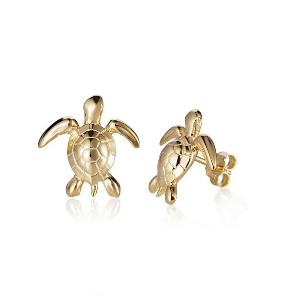 a pair of turtle earrings