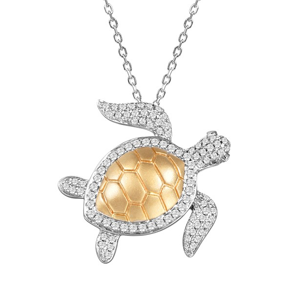 Necklace with turtle pendant