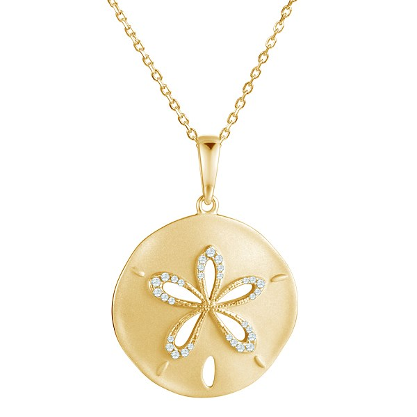 Necklace with flower-shaped pendant